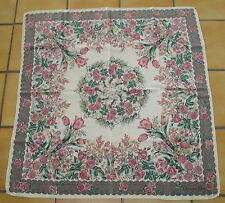 Très beau Grand foulard vintage Christian Dior crèpe de soie silk scarf TBE