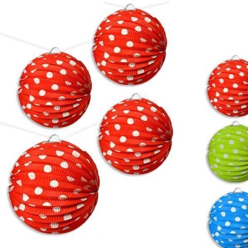Set-4 St. d=21cm in tollen Farben erhältlich gepunktet Lampions