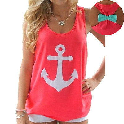 Fashion Womens Summer Vest Top Sleeveless Blouse Casual Tank Tops T Shirt