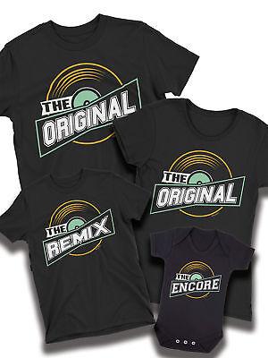 Abile Original Remix Encore Corrispondenza Di Musica T-shirt Papa 'mamma Figlia Figlio Famiglia Baby-mostra Il Titolo Originale