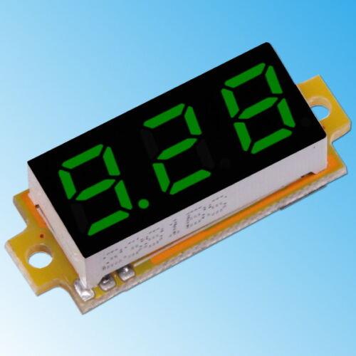 0-10V DC Voltmeter 3-Leiter Mili LED-Anzeige Digital Spannung Strom Panel