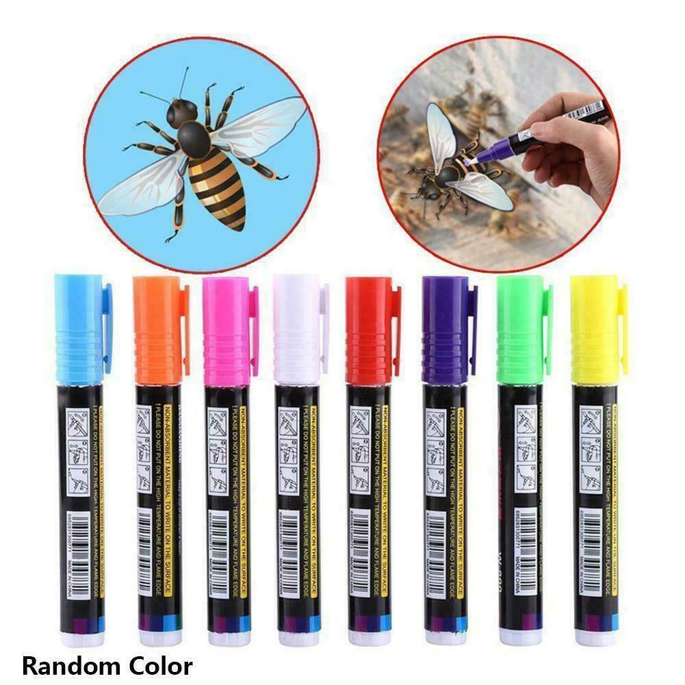 Plastic Bee Queen Marker Pen Mark Paint Tool Bee Keeping Tools 8 Colors