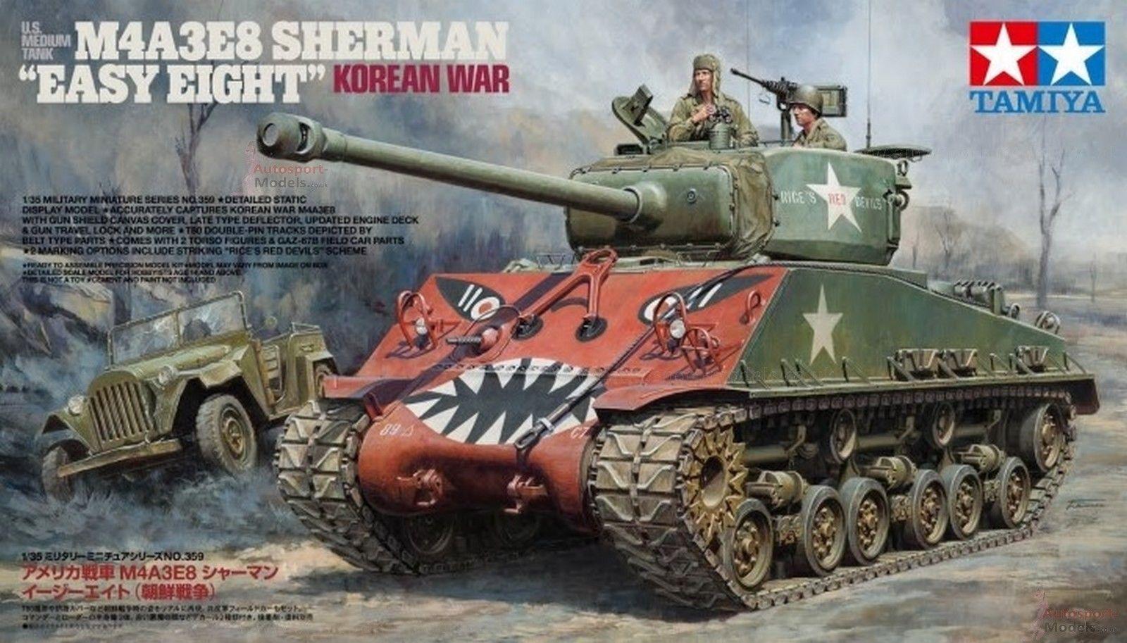 precios al por mayor TAMIYA 1 35 KIT KIT KIT CocheRO ARMATO  U.S. M4A3E8 SHERMAN 'EASY EIGHT' KOREAN WAR 35359  tomar hasta un 70% de descuento