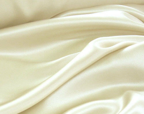 SOLID PLAIN COLOURED/COLORS SILK SATIN / (100 % POLYESTER) FABRIC/CLOTH/DRESS