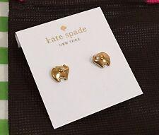 NWT Kate Spade Gold Lucky Elephant Stud Earrings O0RU1153