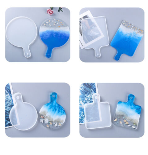 DIY Silicone Coaster Resin Casting Mold Epoxy Fruit Tray Plate Mould Craft Tool