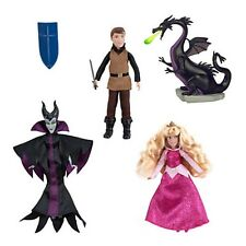 Disney Dornröschen Aurora mini Barbie Set Phillip,Malefizent Puppe Spielzeug NEU