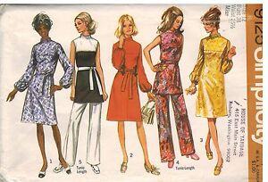 9125 Vintage Simplicity Nahen Muster Misses Kleid Tunika Hose Freizeit Edel Ebay