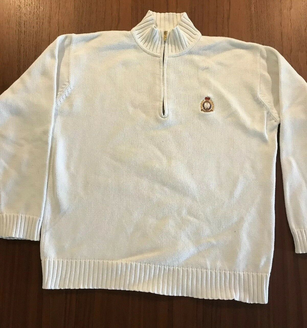 Polo by Ralph Lauren Men's Size M WHITE 1 4 Zip Sweater
