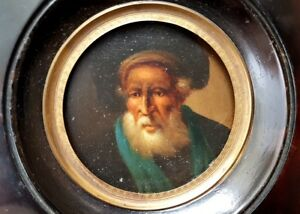 Miniature In The Frame Portrait Hand Painting Around 1820-1840 Al430 Antiques Periods & Styles
