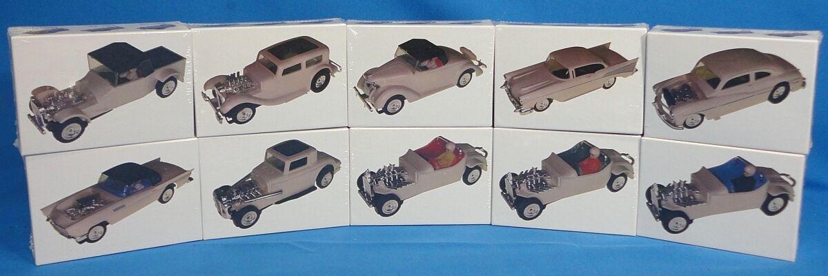 10 AURORA SUPER MoDEL MoToRING O GAUGE SLOT CAR RACING WHITE CARS JIGSAW PUZZLES