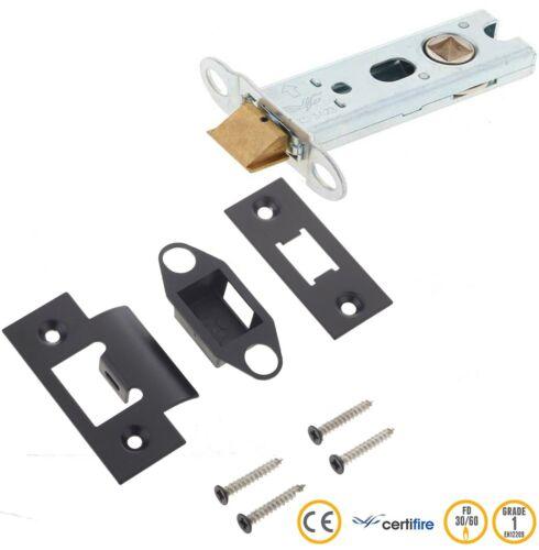 """JL-HDT76 // JL-ACTBL Matt Black Reversible Heavy Duty Tubular Latch Kit 76mm 3/"""""""