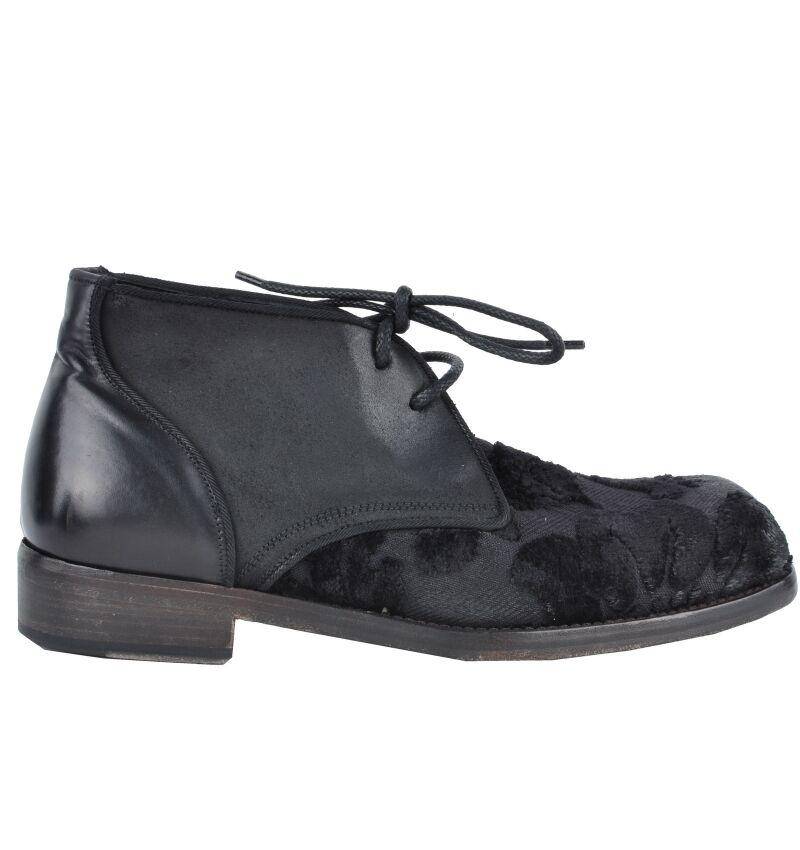 DOLCE & Negro GABBANA RUNWAY Barock Stiefeletten Zapatos Negro & botas Negro 03061 783075