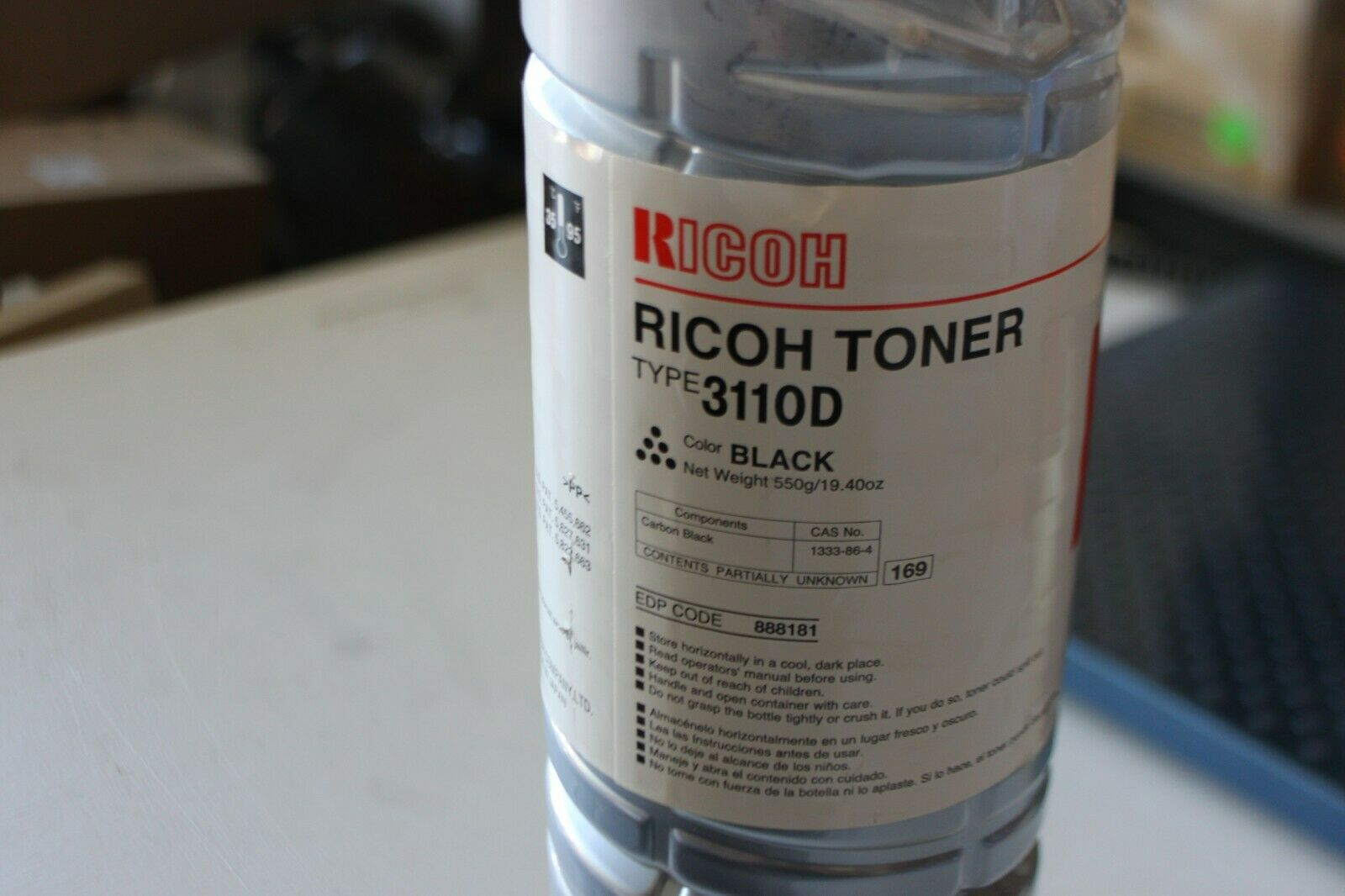 Eurotone Refill Toner for Ricoh Aficio FX 10 Fills 430072 339588 Black