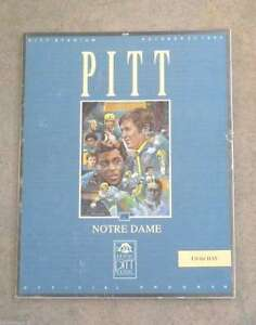 NOTRE-DAME-PITTSBURGH-COLLEGE-FOOTBALL-PROGRAM-1990