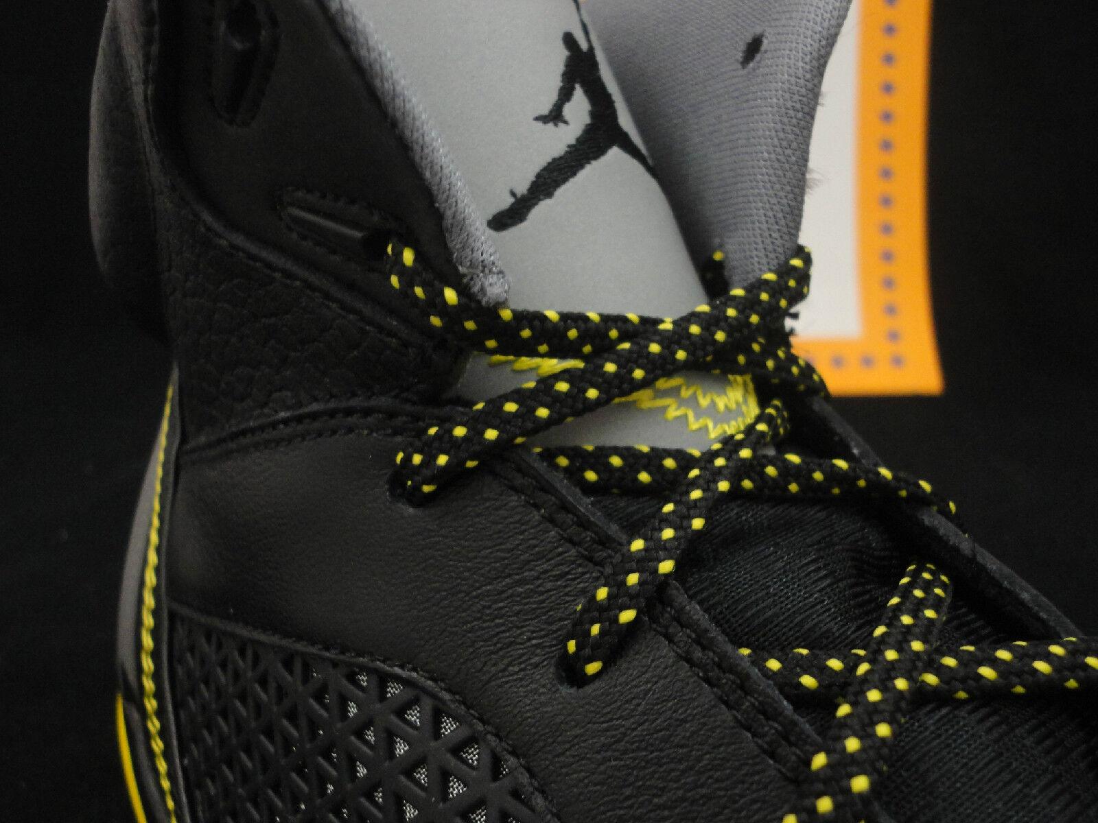 Nike Air Jordan Flight Remix, Black / Retail Vibrant Yellow, Retail / $160, Size 10.5 bb39d0
