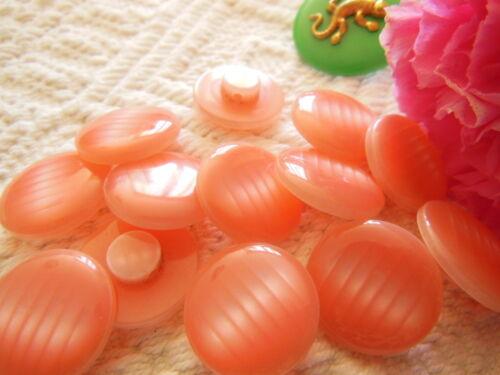 lot 6 boutons vintage camaieu rose lumineux à pied 1,7 cm ref 2516