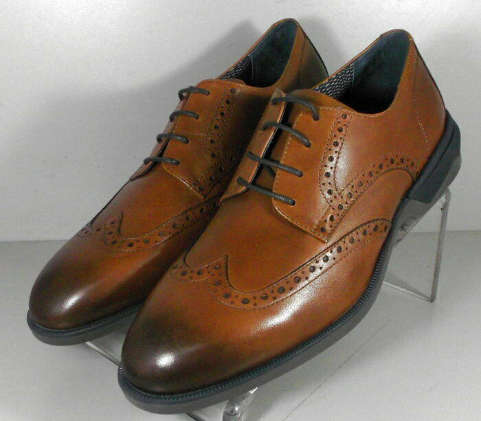 593112 SP50 Men's Shoes Size 9 M Dark Tan Leather Lace Up Johnston & Murphy
