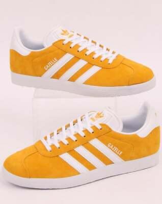 old skool retro classic adidas Gazelle Trainers in Easy Orange /& White Suede