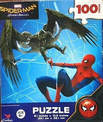 Details about  /100 Piece Jigsaw Puzzle MARVEL SPIDER-MAN 6 YEARS