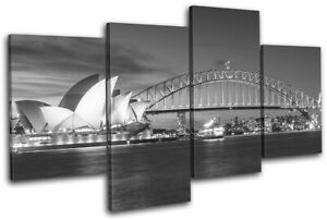 Sydney-Skyline-Harbour-Opera-House-City-MULTI-CANVAS-WALL-ART-Picture-Print