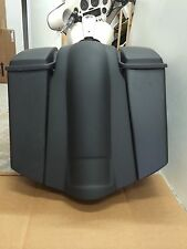 "6"" stretched saddlebags, rear fender and lids for harley road king bagger"