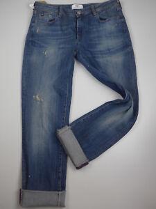 Le-Temps-Des-Perises-7-8-Jeans-Pants-Size-30-Blue-Tone-171-New