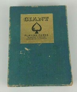 Vintage-Giant-Jumbo-Playing-Cards-British-Hong-Kong-7-034-x-5-034-Complete-w-Jokers