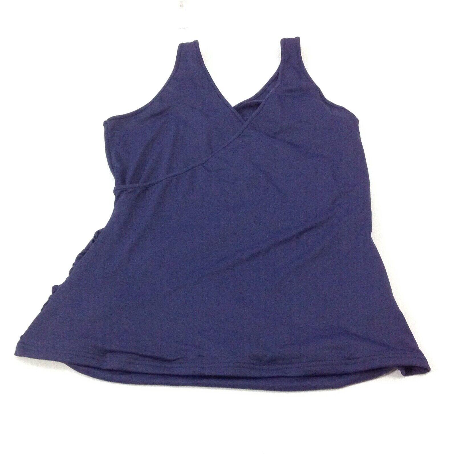 ANNE FONTAINE Stiefel Wrap Top Shirt Sans Manches Tank Froncée Volants SZ 42