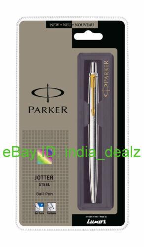 Parker Jotter Stainless Steel GT Ball Point Pen Chrome Blue ink Brand New