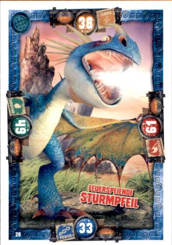 28-Feu crachant Tempête Flèche-Dragon carte-Dragons 3-Le monde secret