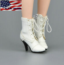 "1/6 Scale Women Ankle Boots For 12"" Hot Toys Phicen Kumik Female Figure USA"