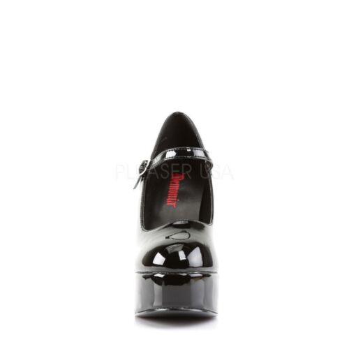 Schwarz Dolly Plateau Riemchen Pump 50 Lolita Pleaser Mary Gothik Jane Lack Gogo qwAIdqE