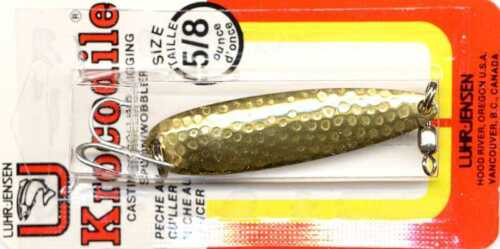 Luhr-Jensen Krocodile Hammered Brass Spoon Fishing Lure one lure - choose size