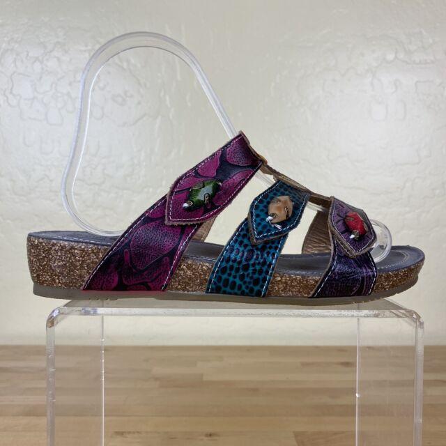 Spring Step L'Artiste Aghna Sandals Slide Womens Size 38 / 7.5-8 Colorful Floral