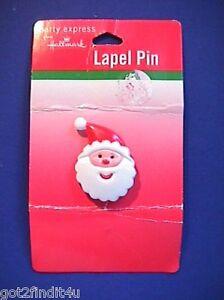 Hallmark-PIN-Christmas-Vintage-SANTA-Jolly-Face-Small-Holiday-Brooch-NEW-A