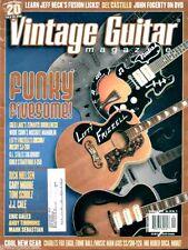 Vintage Guitar Magazine September 2006, Greg Lake Zemaitis Doubleneck, Lefty