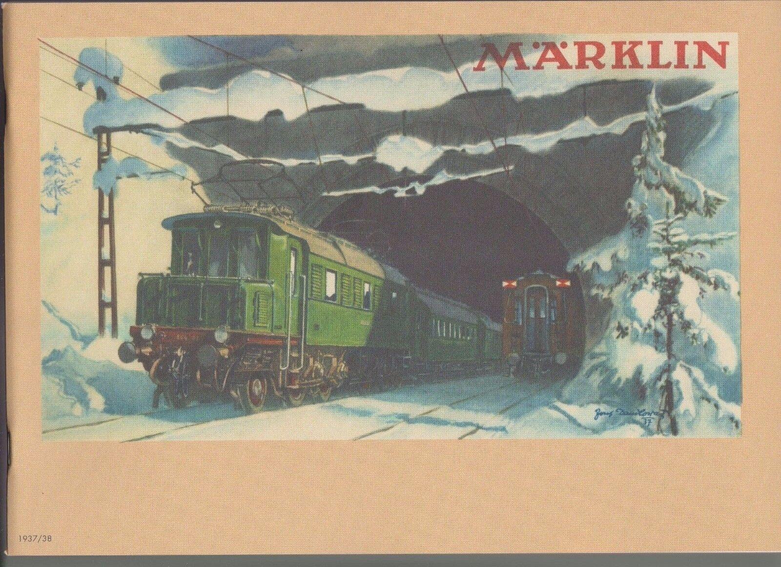 Märklin-Katalog   1937 38  - Reprint -