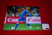ANDREA PIRLO juventus italy world cup signed PSA/DNA 11X14 new york city fc 2