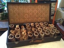 Antique Edison Columbia Cylinder Phonograph Record Suitcase with 36 Pegs
