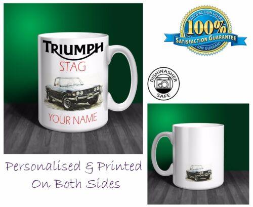 Triumph stag personnalisé mug céramique cadeau. C049