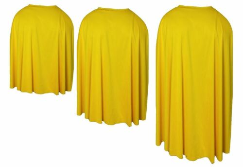 Yellow Custom Made Super Hero Cape Fancy Dress Accessory