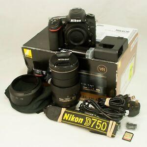 Details about Nikon D750 24 3MP DSLR Camera & DX VR 24-120mm f4 Lens -Boxed  & Near MINT
