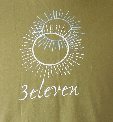 3 Eleven Light Brown Double Sun Graphic Rock Band