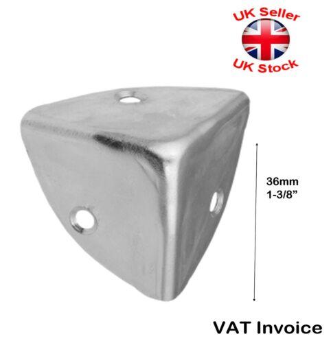 Flight CASE CORNER Bracket Box Trunk Chest 36mm SILVER GALVANIZED ZINC