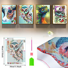4 Pack Figure 5D DIY Diamond Embroidery Painting Kits Cross Stitch Home Decor
