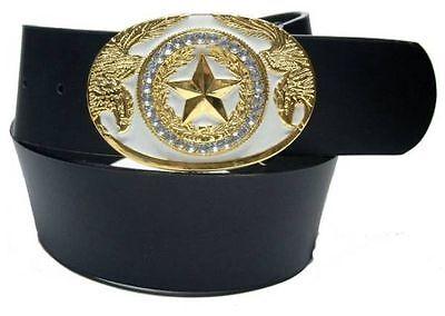 5 cm breiter Damengürtel in schwarz GoldStar