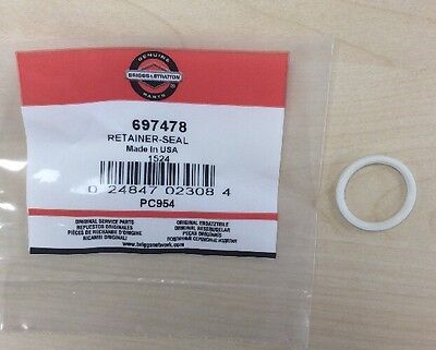 GENUINE BRIGGS & STRATTON SEAL RETAINER 697478 fits Classic and Spring engines