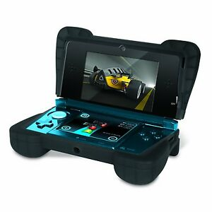 Loose-Black-Comfort-Grip-Silicone-Gel-Protective-Case-4-OLD-Nintendo-3DS-NOT-XL