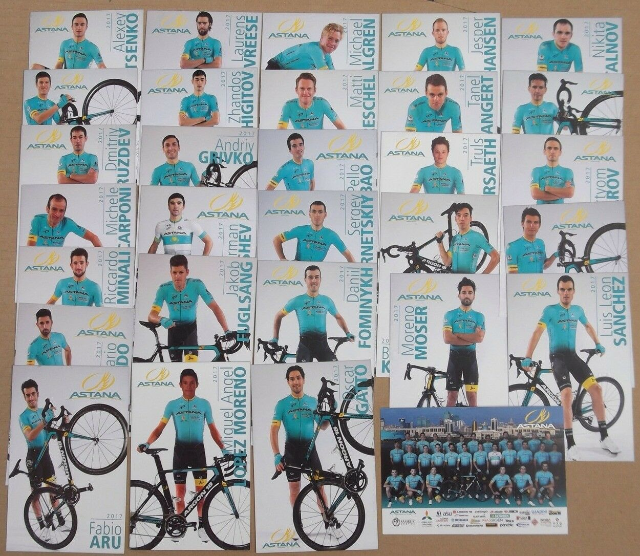CYCLISME Jeu De Photo Astana Du TOUR DE FRANCE FRANCE FRANCE 2017 edd21b